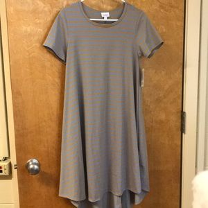 NWT Xs Lularoe Carly Orange and Periwinkle